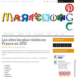 Les sites les plus visités en France en 2012 | MARKETING PGC