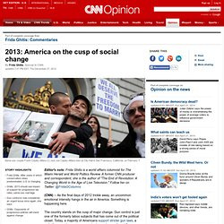 2013: America on the cusp of social change