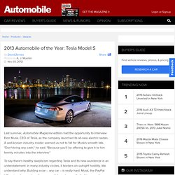 2013 Automobile of the Year: Tesla Model S
