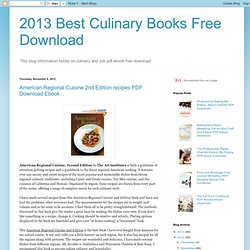 2013 Best Culinary Books Free Download