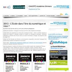 2013 – L'Ecole dans l'ère du numérique et vous ?