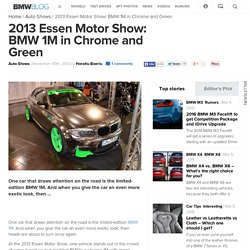 2013 Essen Motor Show: BMW 1M in Chrome and Green