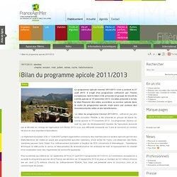 FRANCE AGRIMER 18/11/13 Bilan du programme apicole 2011/2013