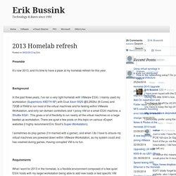 2013 Homelab refresh