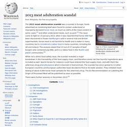 WIKIPEDIA - 2013 meat adulteration scandal.