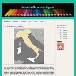 2013 Sud Italie - Voyage en camping-car