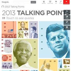 2013 Talking Points