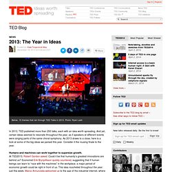 2013: The Year in Ideas