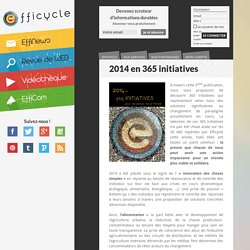 2014 en 365 initiatives - Les initiatives durables de 2014
