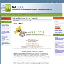 2014 AAEEBL Annual Call for Proposals - AAEEBL
