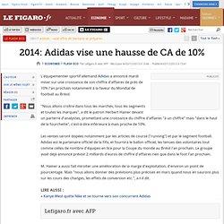 2014: Adidas vise une hausse de CA de 10%