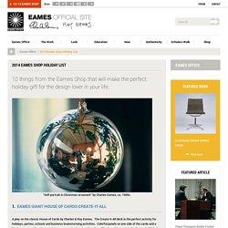 2014 Eames Shop Holiday List