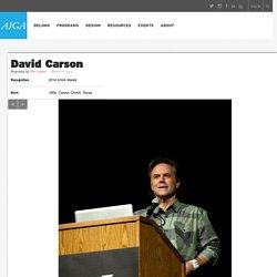 2014 AIGA Medalist: David Carson