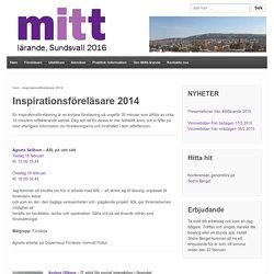 Inspirationsföreläsare 2014