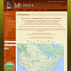 2012 Morel Sightings Map