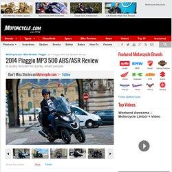 2014 Piaggio MP3 500 ABS/ASR Review