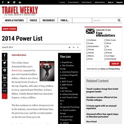 2014 Power List: Travel Weekly