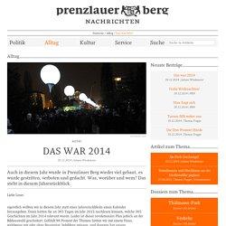 Das war 2014 – Prenzlauer Berg Nachrichten