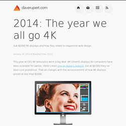 2014: The year we all go 4K