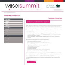2014 WISE Summit Program