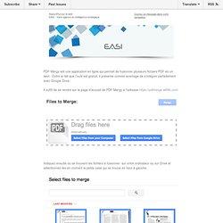 20140311 - [EASI News] > PDF Mergy pour fusionner facilement des fichiers PDF