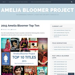 2015 Amelia Bloomer Top Ten – Amelia Bloomer Project