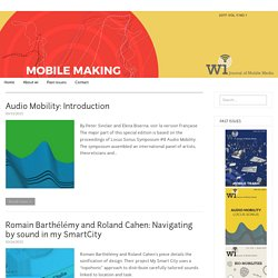 2015: Vol. 9 No. 2. Audio Mobility – Wi Journal