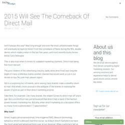 2015 Will See The Comeback Of Direct Mail - Data Boutique