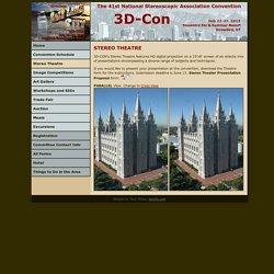 3D-Con 2015 - 41st NSA Convention, Salt Lake City, UT - Stereo Theatre