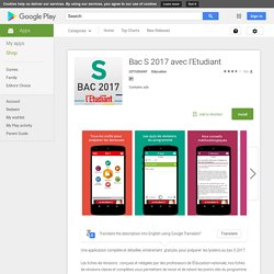 Bac S 2015 avec l'Etudiant - Android Apps on Google Play