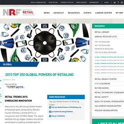 2015 Top 250 Global Powers of Retailing