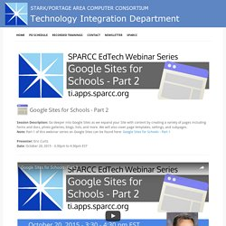 2015-10-20 - Google Sites for Schools - Part 2