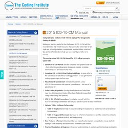 ICD-10-CM Manual for Diagnostic Coding in 2015