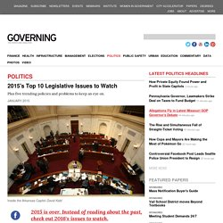 2015's Top 10 Legislative Issues to Watch