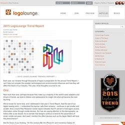 2015 LogoLounge Trend Report on LogoLounge.com