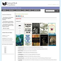 2015 National Book Awards