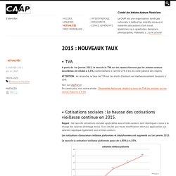 2015 : NOUVEAUX TAUX - CAAP