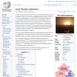 2015 Tianjin explosions