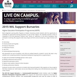 2015 WIL Support Bursaries