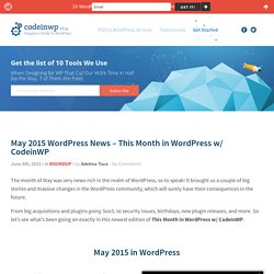 May 2015 WordPress News - This Month in WP w/ CodeinWP