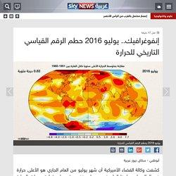 منوعات - إنفوغرافيك.. يوليو 2016 حطم الرقم القياسي التاريخي للحرارة