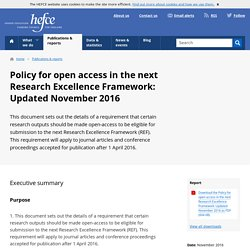 Update to policy Research Excellence Franework Nov 2016/35