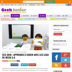 CES 2016 : apprends à coder avec les LEGO de WeDo 2.0