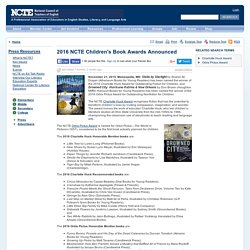 2016 NCTE Children's Book Awards Announced