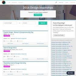 2016 Design Internships