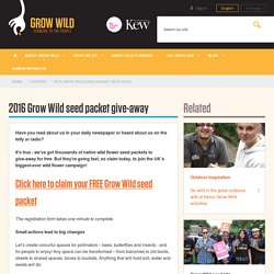 2016 Grow Wild seed packet give-away