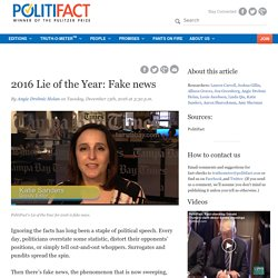 2016 Lie of the Year: Fake news