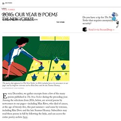 2016: Our Year in Poems