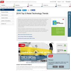 2016 Top 5 Retail Technology Trends