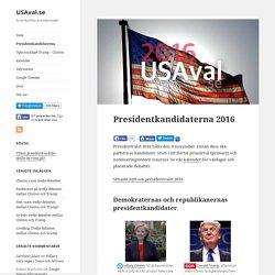 Presidentkandidaterna 2016 – USAval.se